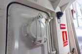 Airtight hatch door of a ship — Stock Photo