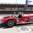 AVILES SPAIN, 28 JULY 2013: Rally of vintage cars exhibition sea — Stock Photo