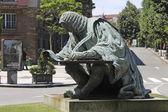 Bronze sculpture of a writer, nineteenth century — Stock Photo