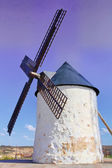 Old Windmill XVI century white stone and wood — Stock Photo