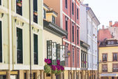 Colored houses in the old town of Oviedo, Spain — Stock Photo