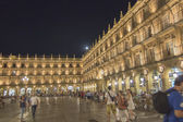 OVIEDO SPAIN, 27 JULY 2013: The young take the Plaza Mayor of Sa — Stock Photo