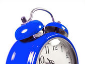 An old alarm clock old blue — Stock Photo