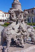 Detail of the streetlights in the Plaza de Cervantes in Alcala d — Stock Photo