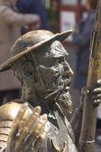 Sculpture of don Quixote of la mancha in bronze — Stockfoto