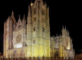 Famous Cathedral of Leon in Leon, Spain — Stock Photo