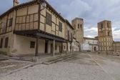 Famous Plaza Mudejar style, with arcades (Plaza de la Villa) Are — Foto de Stock