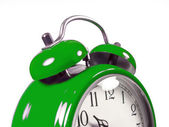 An old alarm clock old green — Stock Photo