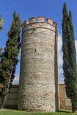 Tower of the wall of the archbishopric of Alcala de Henares, Spa — Stock Photo