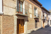 Typical house in the historic town of Alcala de Henares, Spain — Stock Photo