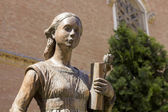Statue of Catherine of Aragon 1485-1536 Queen of England — Stock Photo