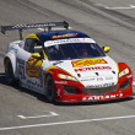 Mazda RX8 at Grand AM Rolex Races on Mazda Laguna Seca Raceway — Stock Photo