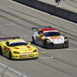 Stock Photo: MazdRX-8 GT and Dodge Viper on track at Grand AM Rolex Races on MazdLagunSecRaceway