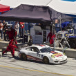 Stock Photo: Porsche GT2 iin pit stop at Grand AM Rolex Races on MazdLagunSecRaceway