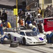 Постер, плакат: Corvette CanAm in pit stop at Grand AM Rolex Races on Mazda Laguna Seca Raceway