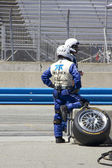 Pit Crew on break at Grand AM Rolex Races on Mazda Laguna Seca Raceway — Stock Photo