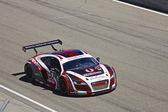 Audi R8 at Grand AM Rolex Races on Mazda Laguna Seca Raceway — Stock Photo