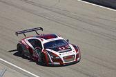 Audi R8 at Grand AM Rolex Races on Mazda Laguna Seca Raceway — Stock Photo