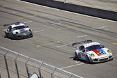 Porche GT2 at Grand AM Rolex Races on Mazda Laguna Seca Raceway — Stock Photo