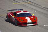 Ferrari F458 on track at Grand AM Rolex Races on Mazda Laguna Seca Raceway — Stock Photo