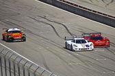 Mazda RX8 and Corvette Can-Am's at Grand AM Rolex Races on Mazda Laguna Seca Raceway — Stock Photo