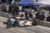 Ford Can-Am at pit stop at Grand AM Rolex Races on Mazda Laguna Seca Raceway — Stock Photo