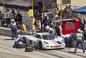 Corvette CanAm in pit stop at Grand AM Rolex Races on Mazda Laguna Seca Raceway — Stock Photo
