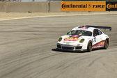Porsche GT2 on track at Grand AM Rolex Races on Mazda Laguna Seca Raceway — Stock Photo