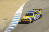 BMW 335 at Grand AM Rolex Races on Mazda Laguna Seca Raceway — Stock Photo