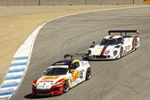 Ford Can-Am and Mazda RX8 at Grand AM Rolex Races on Mazda Laguna Seca Raceway — Stock Photo