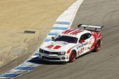 Chevrolet Camaro SS at Grand AM Rolex Races on Mazda Laguna Seca Raceway — Stock Photo