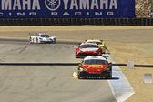 Mazda RX8 In Flames at Grand AM Rolex Races at Mazda Raceway in Laguna Seca — Stock Photo