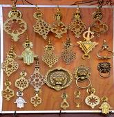 Metal Door Knockers at a Moroccan Souk — Stock Photo