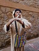 Moroccan Street Flutist — Stock Photo