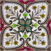 Vintage floral tile — Stock Photo