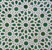 Moroccan Zellige Tile Pattern — Stock Photo