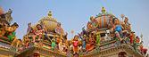印度教神寺庙屋顶上 — 图库照片