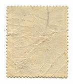 O verso de um selo postal. — Foto Stock