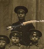 Vintage photo of a schoolboys Odessa gymnasium, circa 1880. — Stockfoto
