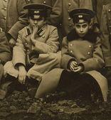 Vintage photo of a schoolboys Odessa gymnasium, circa 1880. — Stock Photo
