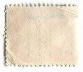 O verso de um selo postal. — Fotografia Stock