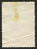 The reverse side of a postage stamp. — 图库照片