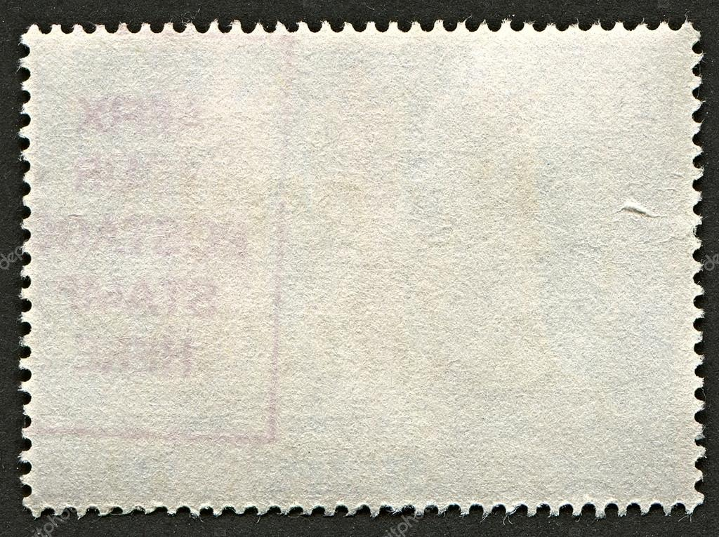 The reverse side of a postage stamp photo by markaumark Which side does a stamp go on