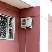 LG air conditioner, hanging on the wall. — Stock Photo