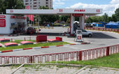Lukoil gas station. — Stock Photo