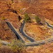 Curves winding road high view in red mountains — Stock Photo #12646908