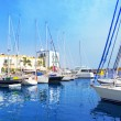Gran canaria Puerto de Mogan marina boats — Stock Photo