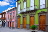 Gran Canaria Teror colorful facades — Stock Photo