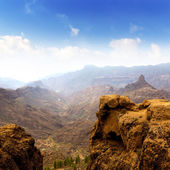 Gran canaria La culata view from Roque Nublo — Stock Photo