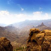 Gran canaria La culata view from Roque Nublo — Stock Photo